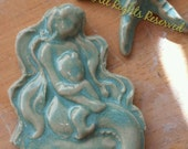 Mermaid with child tile Mosaic or Jewelry