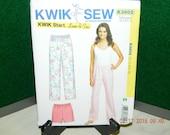 Misses sleep pants & shorts Kwik sew k3602