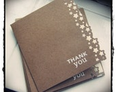 Handmade punched and stamped thank you cards pack of 5