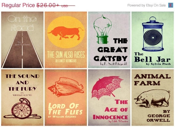 Book Cover Series Y Novelas : Sale re imagined book cover series literary by