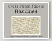 FLAX counted cross stitch fabric : 28 40 ct. count linen Zweigart hand embroidery