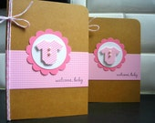 New Baby Girl Card, Baby Shower Card, Welcome New Baby