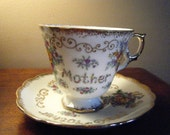 Noritake  Vintage Bone China Breakfast Cup and saucer, Nippon Mother Breakfast Cup and Saucer