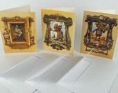 Fantasy greeting card set steampunk art cards original illustrations