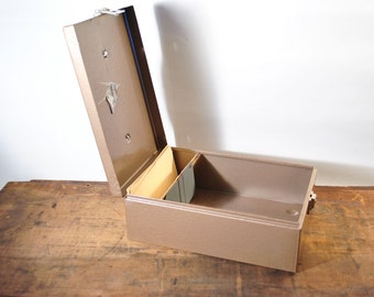 Industrial File Box With Keys Safe Drawer Office Filing Locked Metal Storage Estate Find Collectible