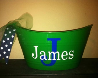 Personalized Easter Bucket-Sand Pail-Party Favor-Ice Bucket-Best Easter Basket-Gift Holder-Candy Holder