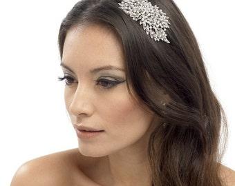 Hair Comb, bridal hair comb, Crystal Floral Hair Comb, Bridesmaid hair accessory,  Bridal Hair Accessory, wedding hair comb, crystal comb