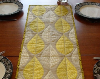 Modern Quilted Table Runner, Citrine 1 SALE