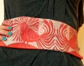 batik -long cotton sash -  Energy Bird  - women's fashion  -  printed sash from original batik