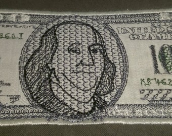 100 Dollar Bill Applique Design