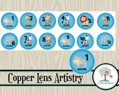 Monthly Milestone Stickers, Planner Stickers, Calendar Stickers, Day Planner, Planner Accessories, Erin Condren, Scrapbooking, Embellishment