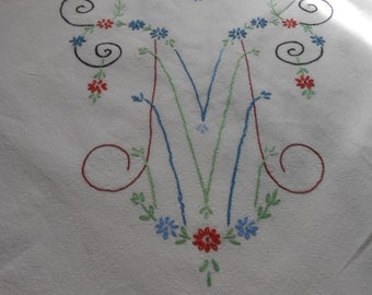 Tablecloth, Vintage,  Embroidered