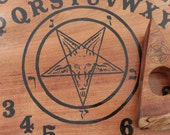 Ouija Board Pagan Goat Head Pentagram Symbol Planchette Star Pentacle Scary Occult Game