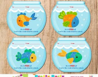 FISHBOWL VALENTINE  - Instant Download
