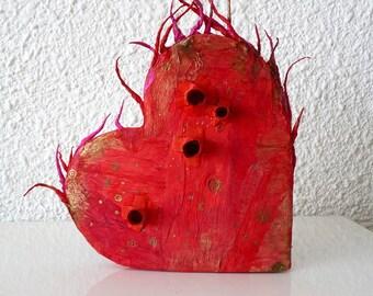 """Paper Art Sculpture """"Heart"""""""