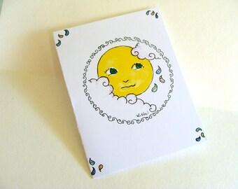 Paisley Moon Card Celestial