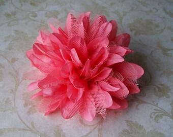 Peach Hair Flower - Coral Flower Hair Clip - Wedding Hair Pin - Bridal Hair Accessory