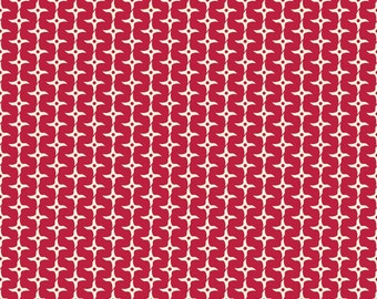 Year of the Ninja Star in Red, Scott Jarrard Illustration, Riley Blake Designs, 100% Cotton Fabric, C4194-Red