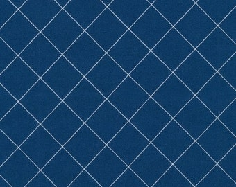 Doe Crisscross in Blue, Carolyn Friedlander, Robert Kaufman Fabrics, 100% Cotton Fabric, AFR-15023-4 BLUE