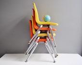 Vintage Orange Child's Chair - Virgo Child's Chair