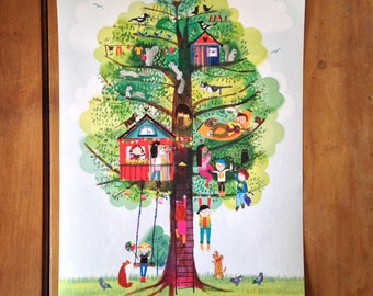 A3 poster 'The Happy Tree'.