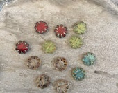 Czech glass Cactus Flower Mix 9mm  12 beads