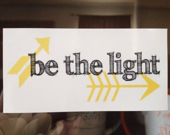 be the light window cling