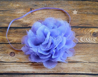 Light purple headband, baby elastic headband, baby headband, infant headband, newborn headband, baby girl, newborn girl, headband infant