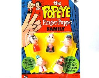 Popeye Finger Puppet Family MIP
