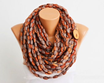 lariat scarf, infinity chain scarf,  lariat  scarf,