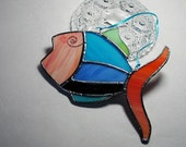 Fish, Stained Glass, Suncatcher, Window Art, Spring time, Gift