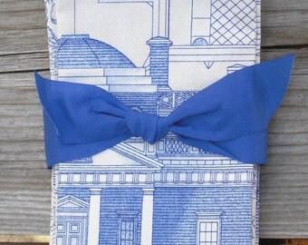 Set of 4 Cloth Napkins, Handmade, Designer Fabric, Architectural, Man's Gift, Drafting, Hostess Gift
