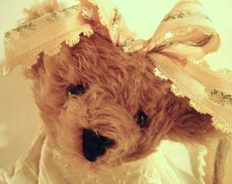 Brown, Handmade Mohair Bear