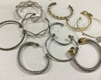 Metal Cuff Style Bracelets Vintage lot 616