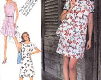 "Fun Flirty Casual Summer Dress Sleeveless Top Skirt and Purse Bag Size 8-18 Bust 31.5-40"" Style 2738 Womens Sewing Pattern"