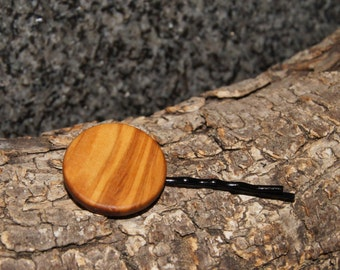 Hair Clip - Olive Wood, Handmade,  Olivewood Hair Accessories