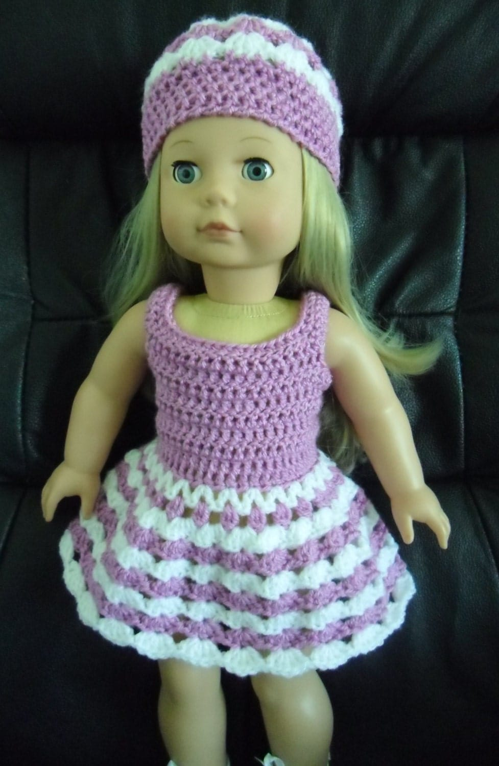 Pdf Crochet Pattern For 18 Inch Doll Dress And Hat Set For