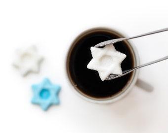 Jewish Star Shaped Sugar Cubes for Bar and Bat Mitzvahs, Hanukkah, High Holidays