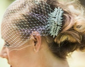 Veils, bridal Birdcage veil with rhinestone comb- MAGALIE - 15007