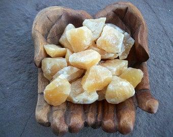 "ORANGE CALCITE Rough Stone 1-2"" A+ Sea Salt Yoga Nugget Chi Sunshine Crystal Chakra Meditation Reiki Energy Wicca Altar"
