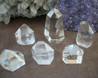 "ARKANSAS Quartz Crystal 3""x2"" Tower Points Water Clear Rock Hound Generator Energy Grid Amplify Psychic Manifest Meditate Magic Reiki Angel"