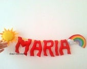 Rainbow Party Banner, Personalized Kids Name