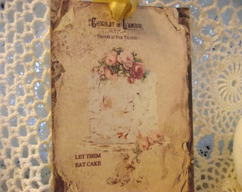 Gift Tags Shabby Chic Style Personalize For Any Occasion  Distress Edges For Vintage Style Adorned With Gold Ribbon