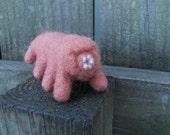 Needle Felted Tardigrade / Wool Felt Animal Science Figurine / Microscopic Life / Microorganism Water Bear Toy