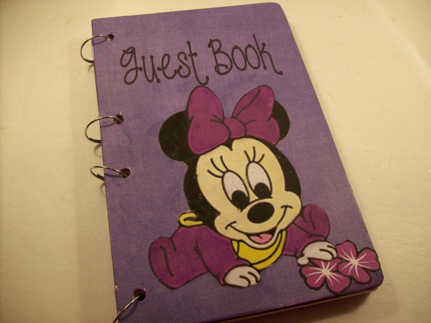 baby shower guest book sign in book new mom advice book minnie