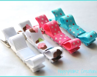 Baby Hair clips, Tuxedo hair clips, Infant hair clips, Toddler hair clips, Non-slip grip, Set of 4 clips