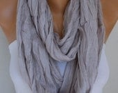 Stone Cotton Infinity Scarf,So soft,Summer Scarf Cowl Circle Loop Oversized Gift Ideas For Her Women Fashion Accessories,women scarves