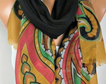 Floral Cotton Scarf, Fall Shawl, Summer Scarf,Cowl Oversized Wrap Gift Ideas For Her Women Fashion Accessories Teacher  Gift Women Scarves
