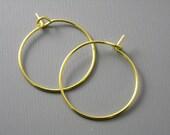 HOOP-G-WINE-20MM - 20mm 14k Gold Plated Hoop Earrings - 20 pcs