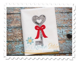 Heart Key Applique